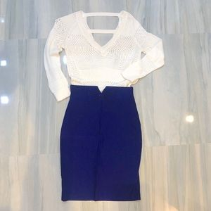 Dresses & Skirts - Royal Blue Pencil Skirt with Bow Detail